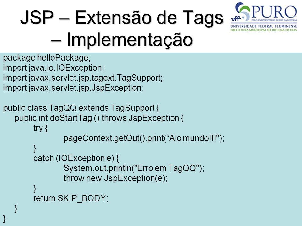 JSP – Extensão de Tags – Implementação
