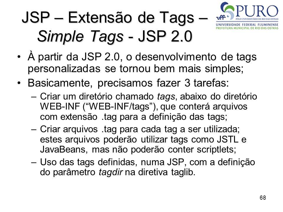JSP – Extensão de Tags – Simple Tags - JSP 2.0