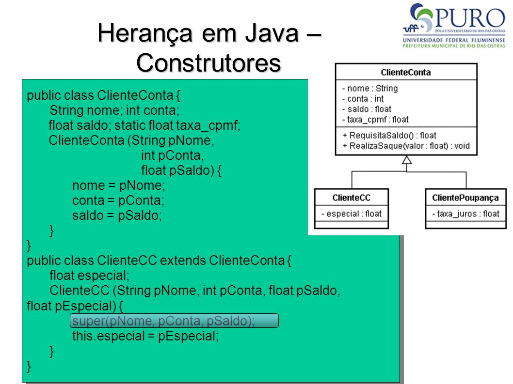 Herança em Java – Construtores
