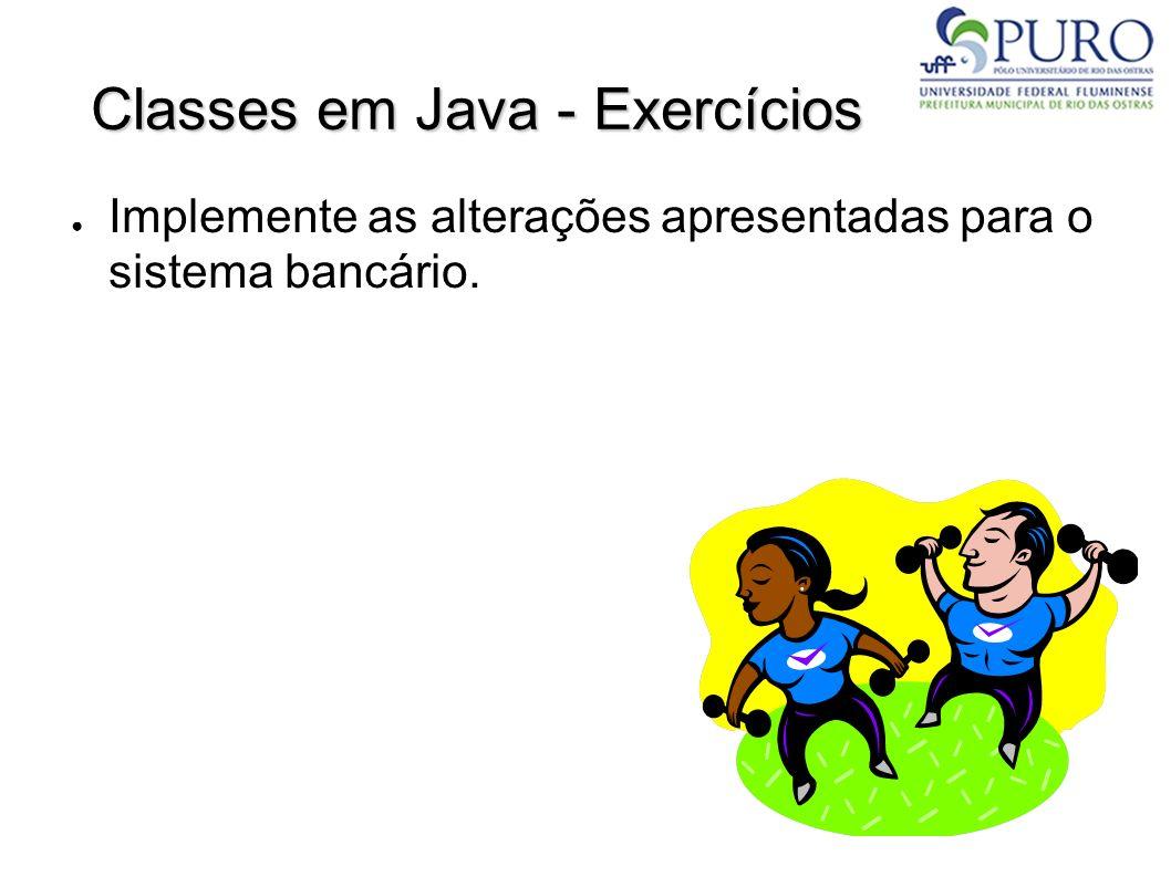 Classes em Java - Exercícios