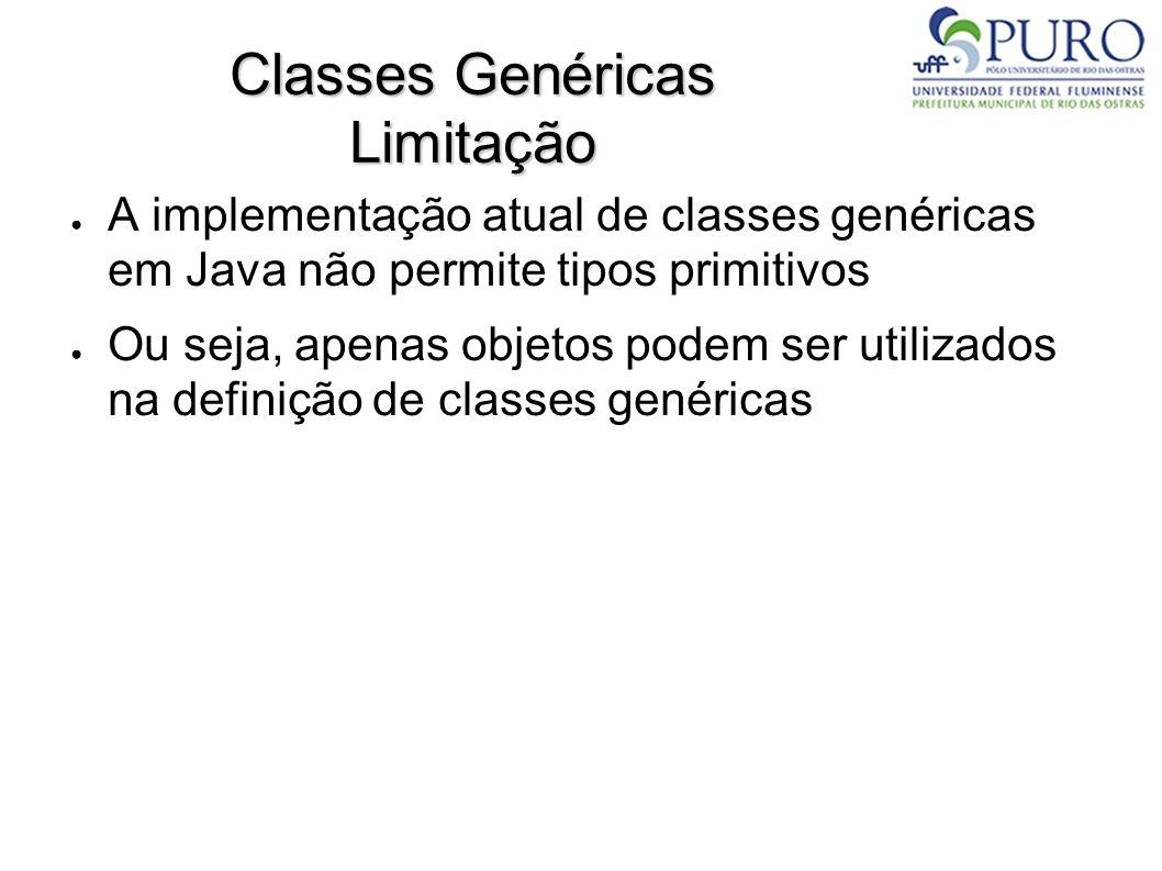 Classes Genéricas Limitação