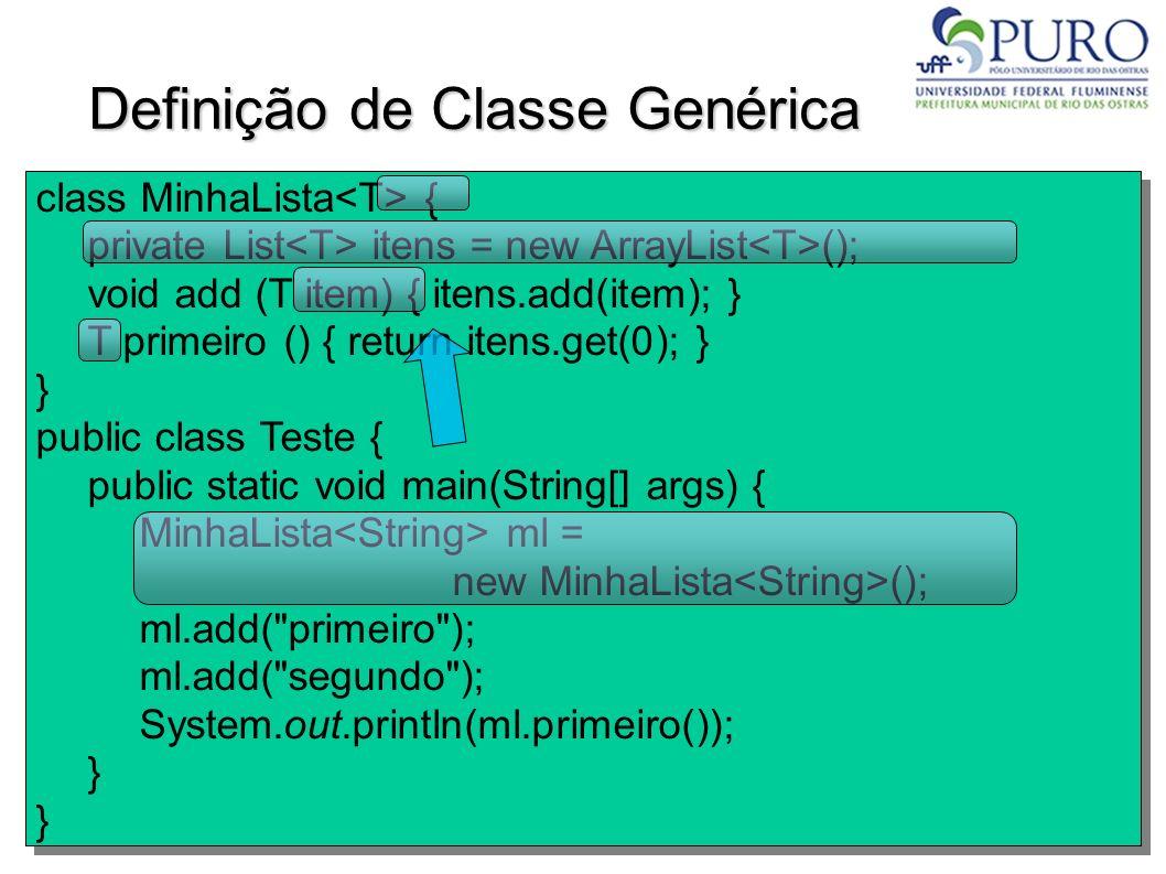 Definição de Classe Genérica