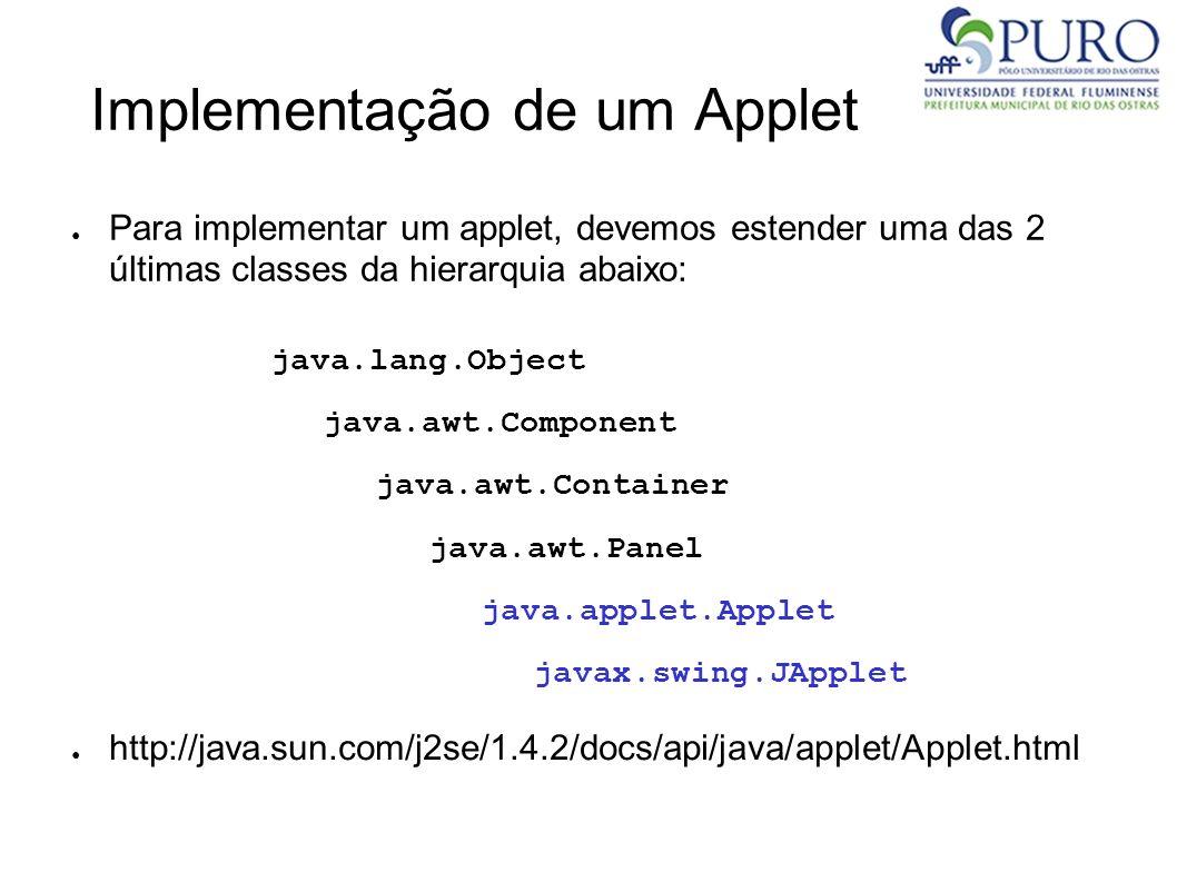 Implementação de um Applet