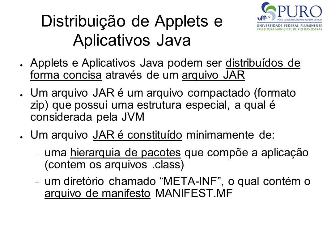 Distribuição de Applets e Aplicativos Java