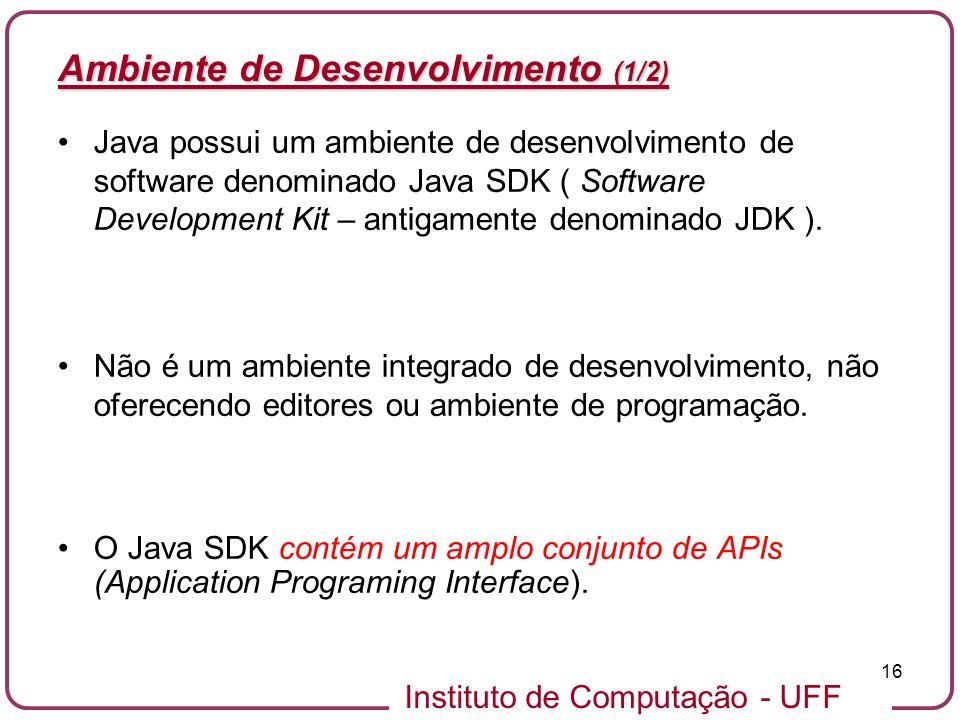 Ambiente de Desenvolvimento (1/2)