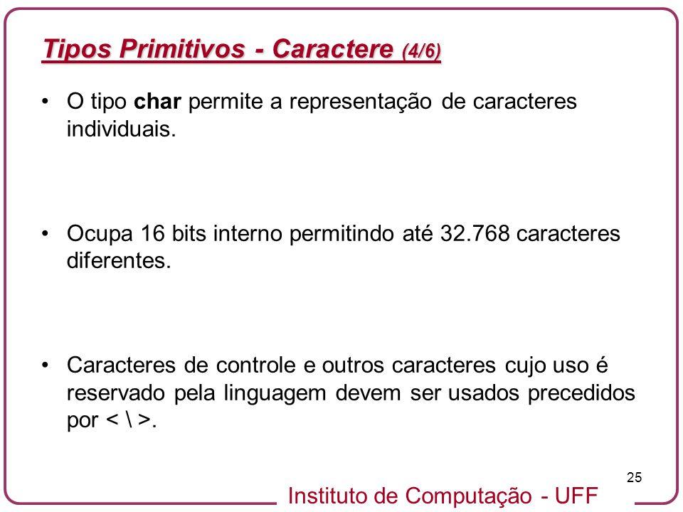 Tipos Primitivos - Caractere (4/6)