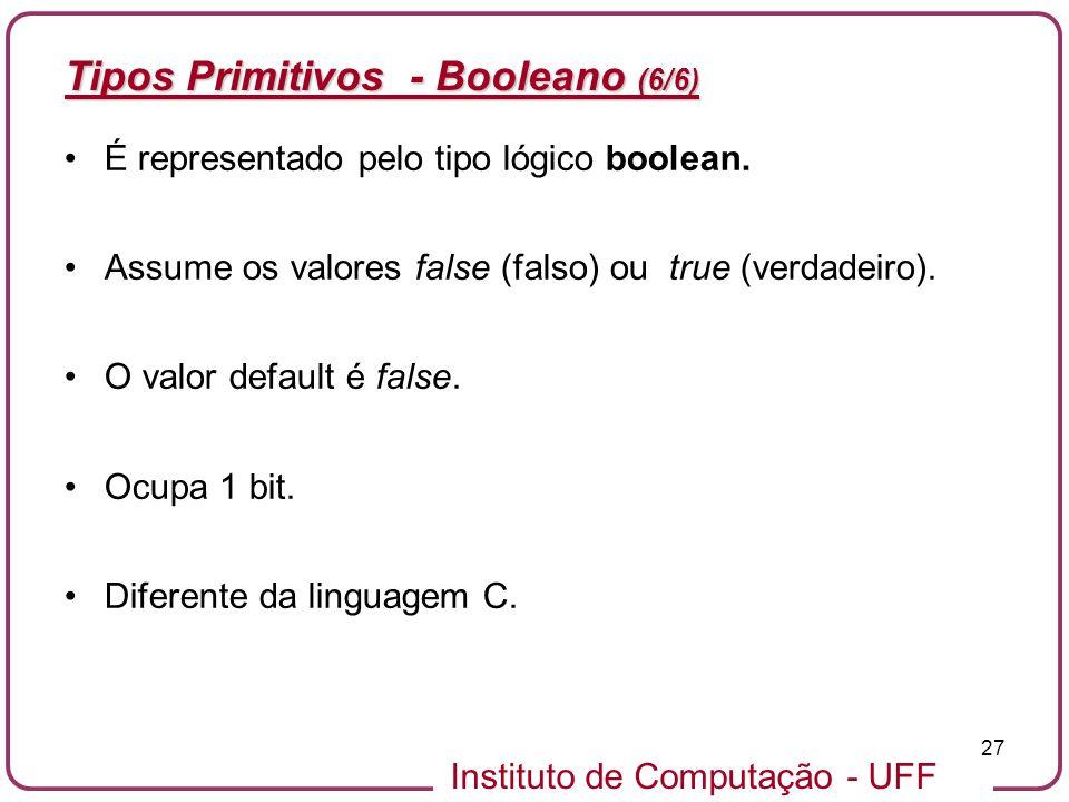 Tipos Primitivos - Booleano (6/6)