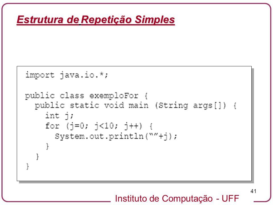 Estrutura de Repetição Simples