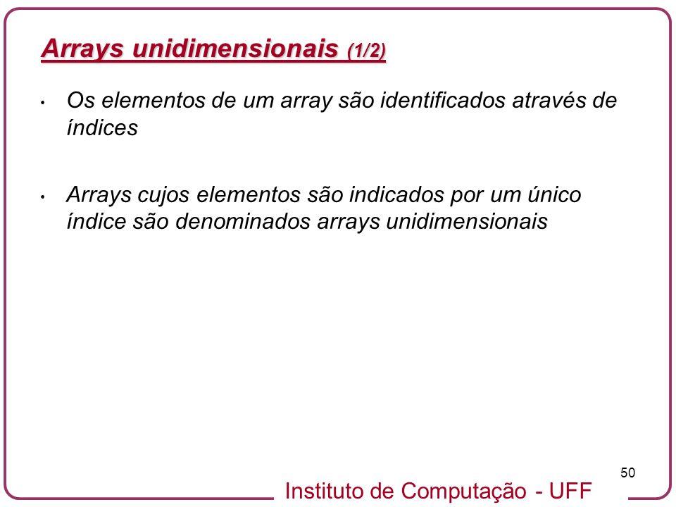 Arrays unidimensionais (1/2)