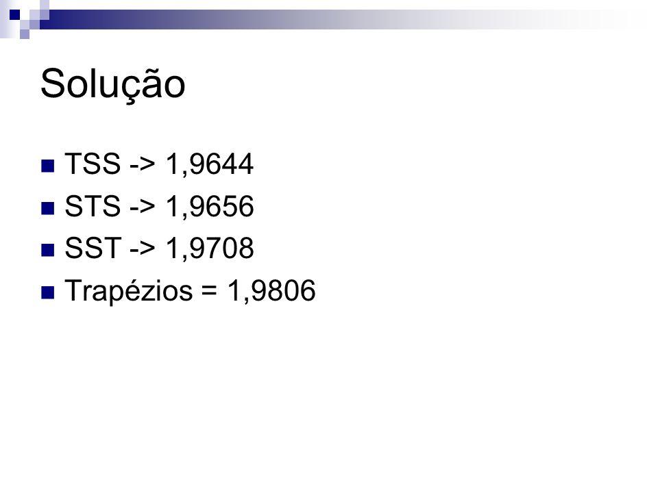 Solução TSS -> 1,9644 STS -> 1,9656 SST -> 1,9708