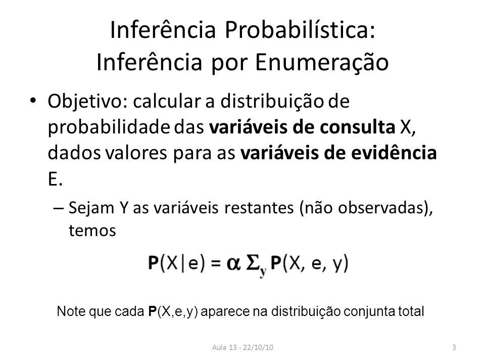 Inferência Probabilística: Inferência por Enumeração