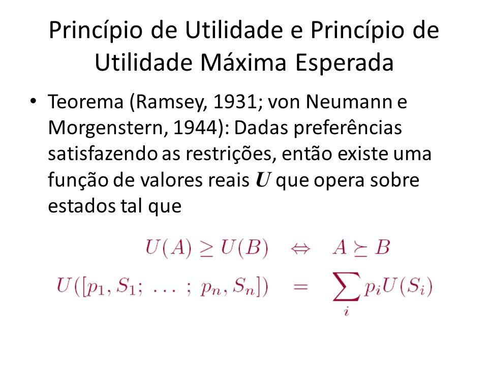 Princípio de Utilidade e Princípio de Utilidade Máxima Esperada
