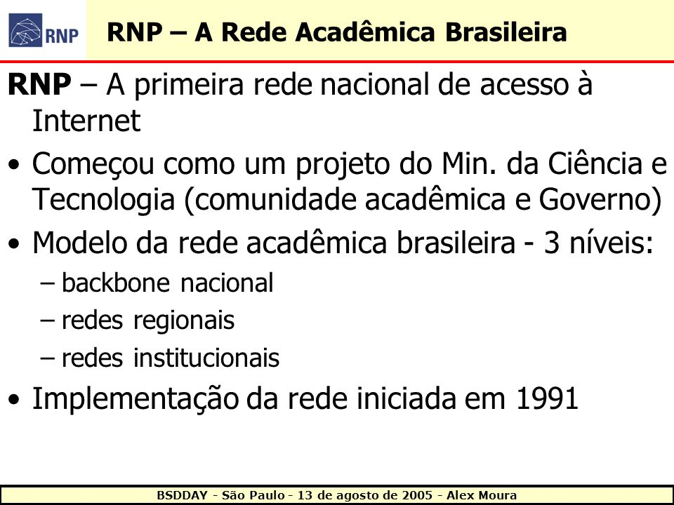 RNP – A Rede Acadêmica Brasileira