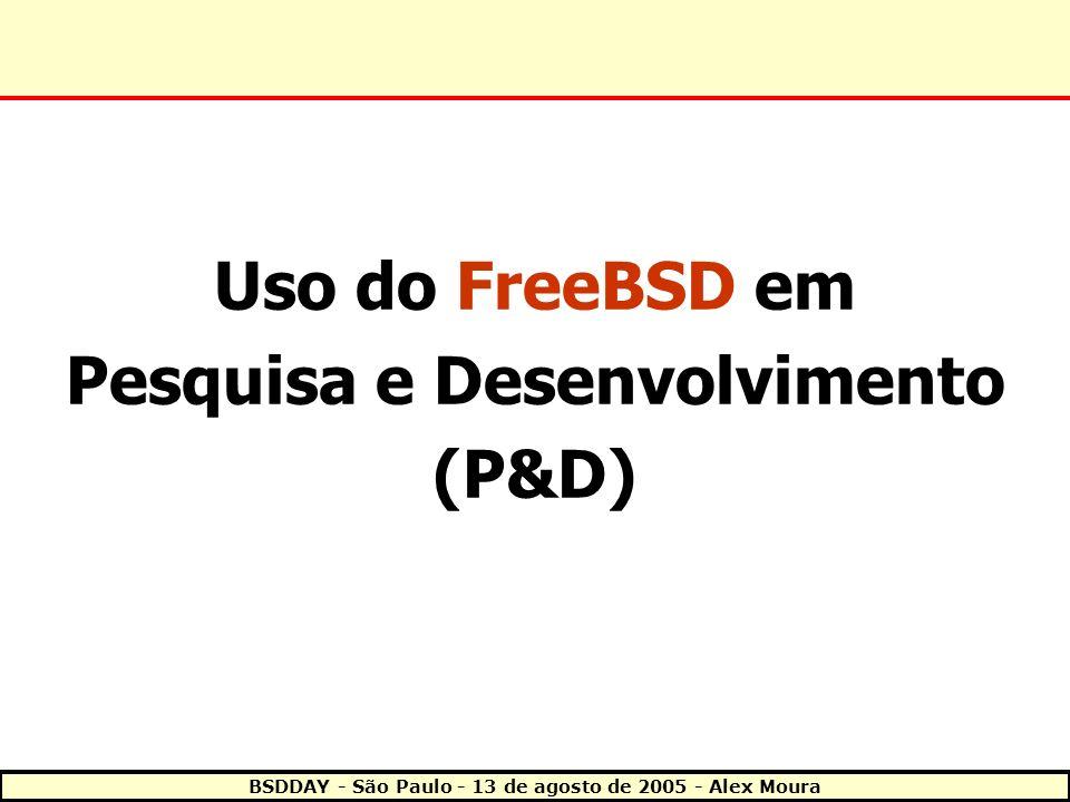 Uso do FreeBSD em Pesquisa e Desenvolvimento (P&D)