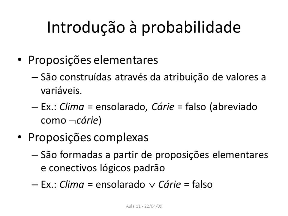 Introdução à probabilidade