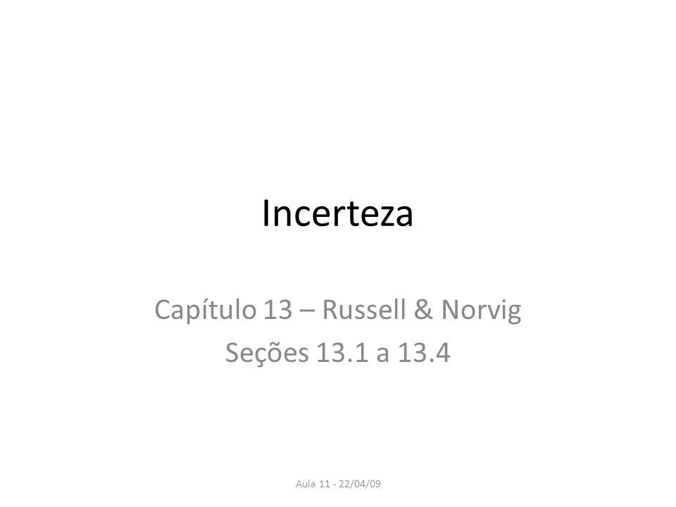 Capítulo 13 – Russell & Norvig Seções 13.1 a 13.4