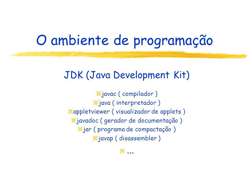 O ambiente de programação