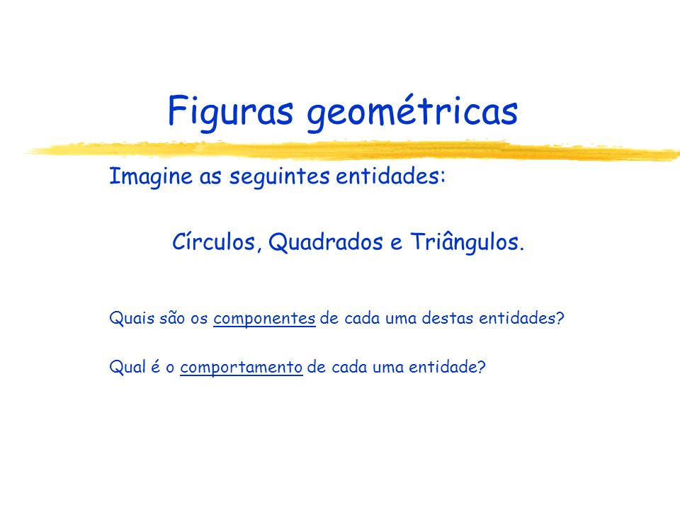 Círculos, Quadrados e Triângulos.