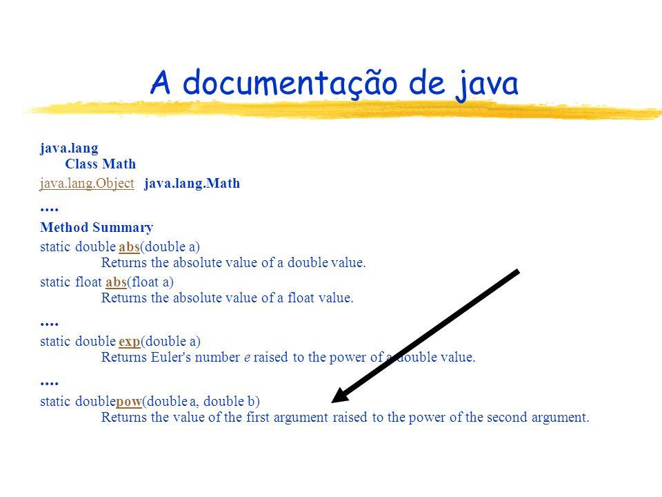 A documentação de java .... java.lang Class Math