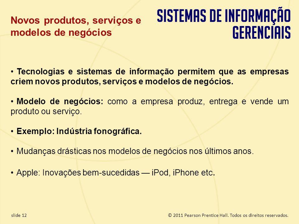 Novos produtos, serviços e modelos de negócios