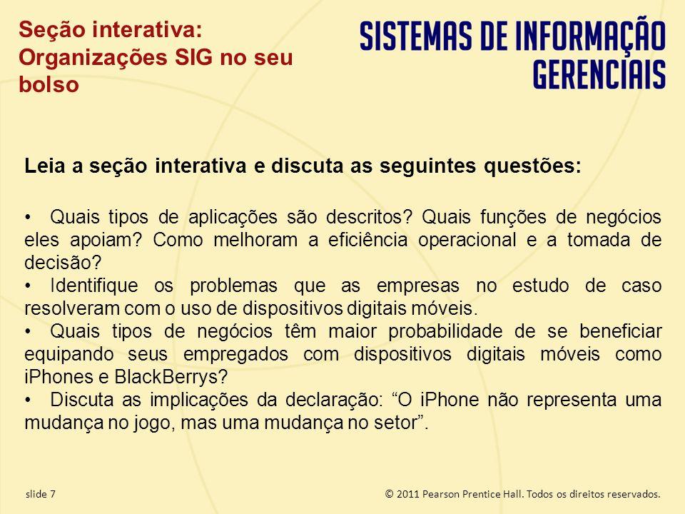 Seção interativa: Organizações SIG no seu bolso