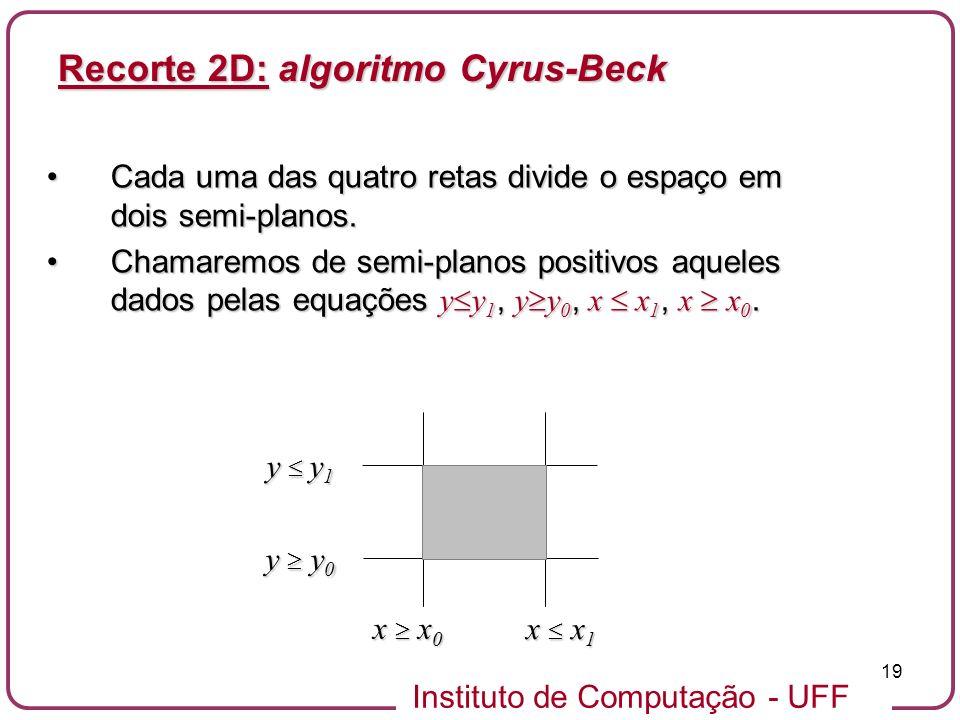 Recorte 2D: algoritmo Cyrus-Beck
