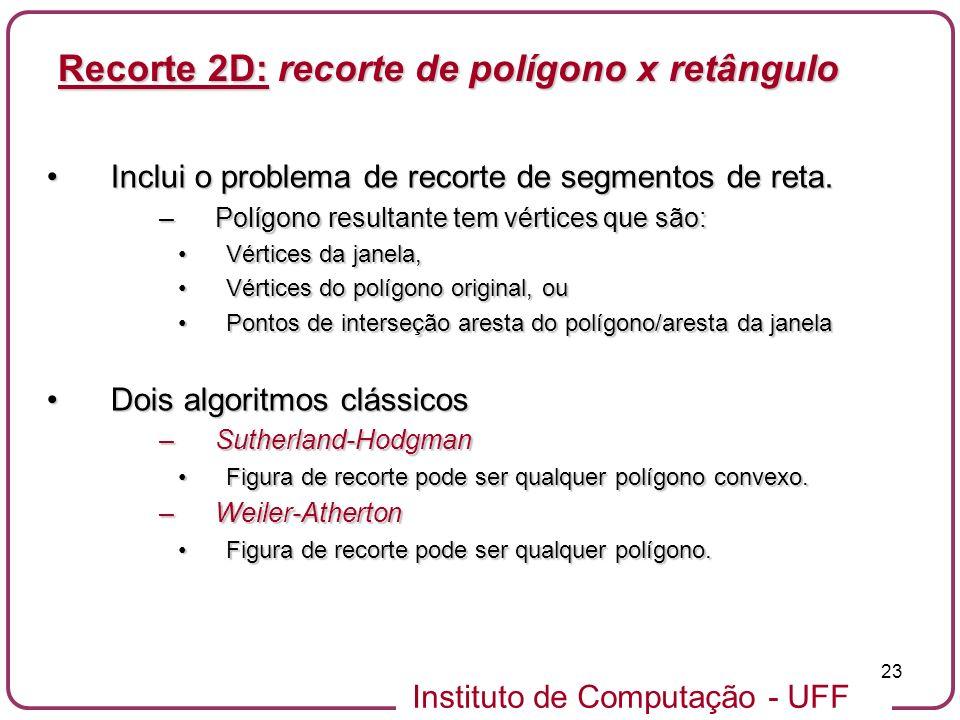 Recorte 2D: recorte de polígono x retângulo