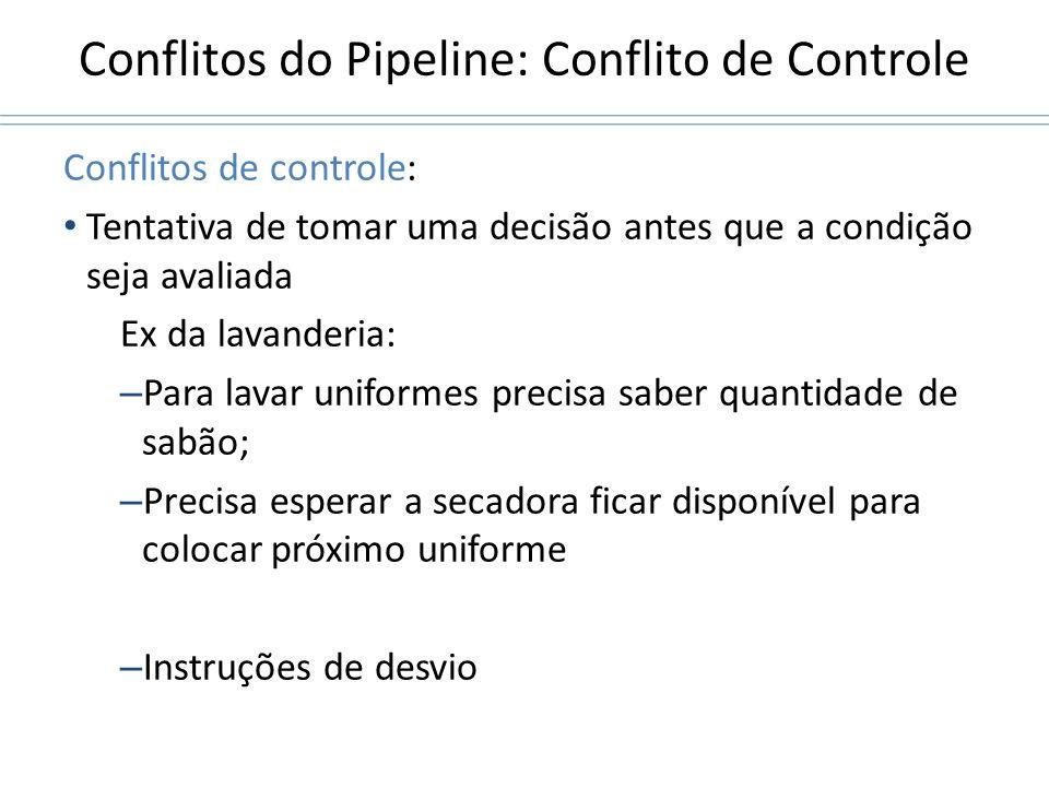 Conflitos do Pipeline: Conflito de Controle