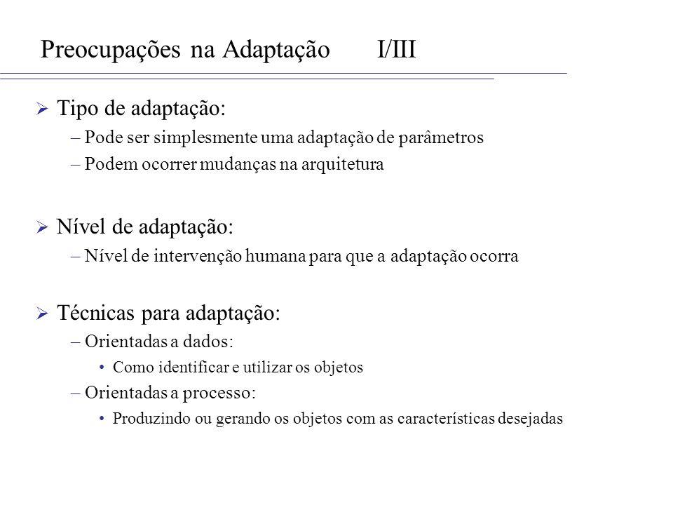 Preocupações na Adaptação I/III