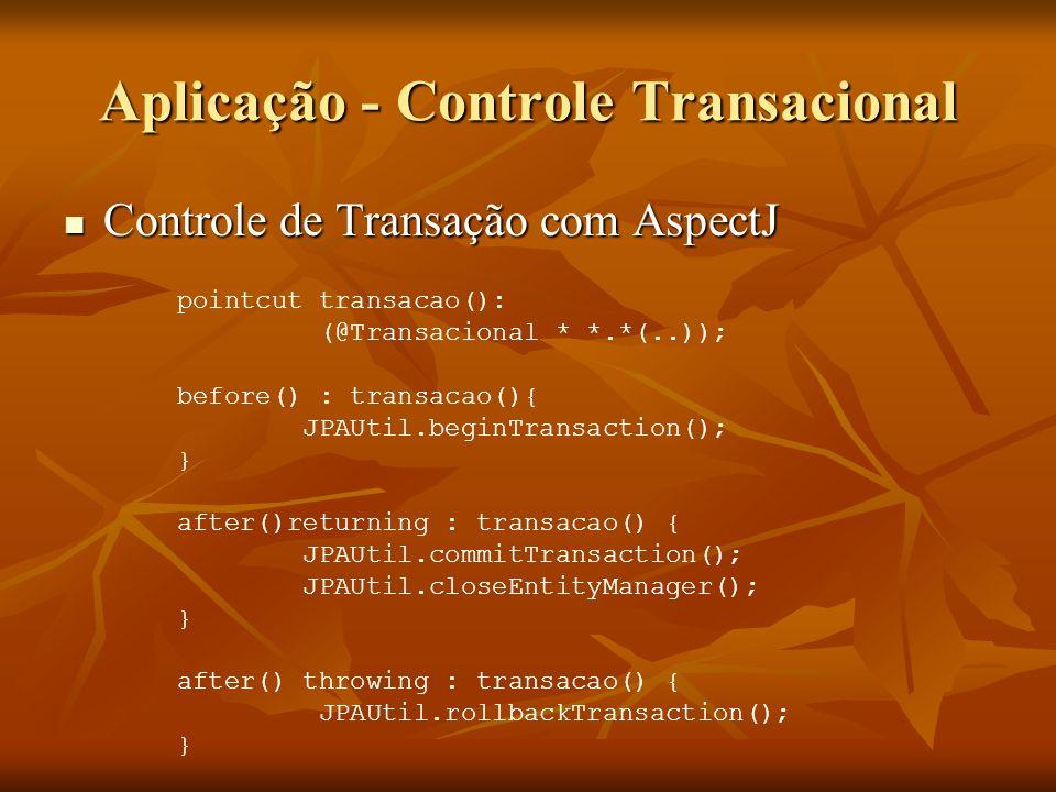 Aplicação - Controle Transacional