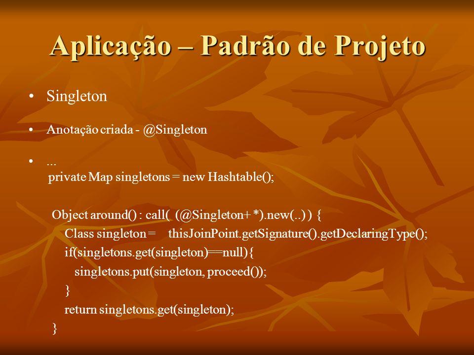 Aplicação – Padrão de Projeto