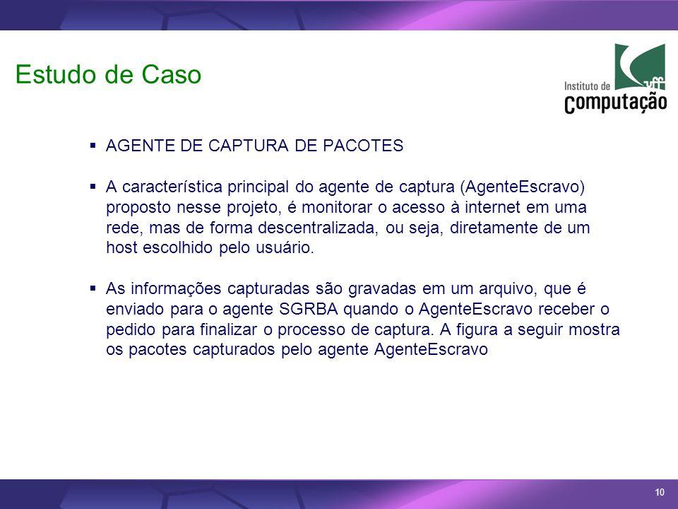 Estudo de Caso AGENTE DE CAPTURA DE PACOTES