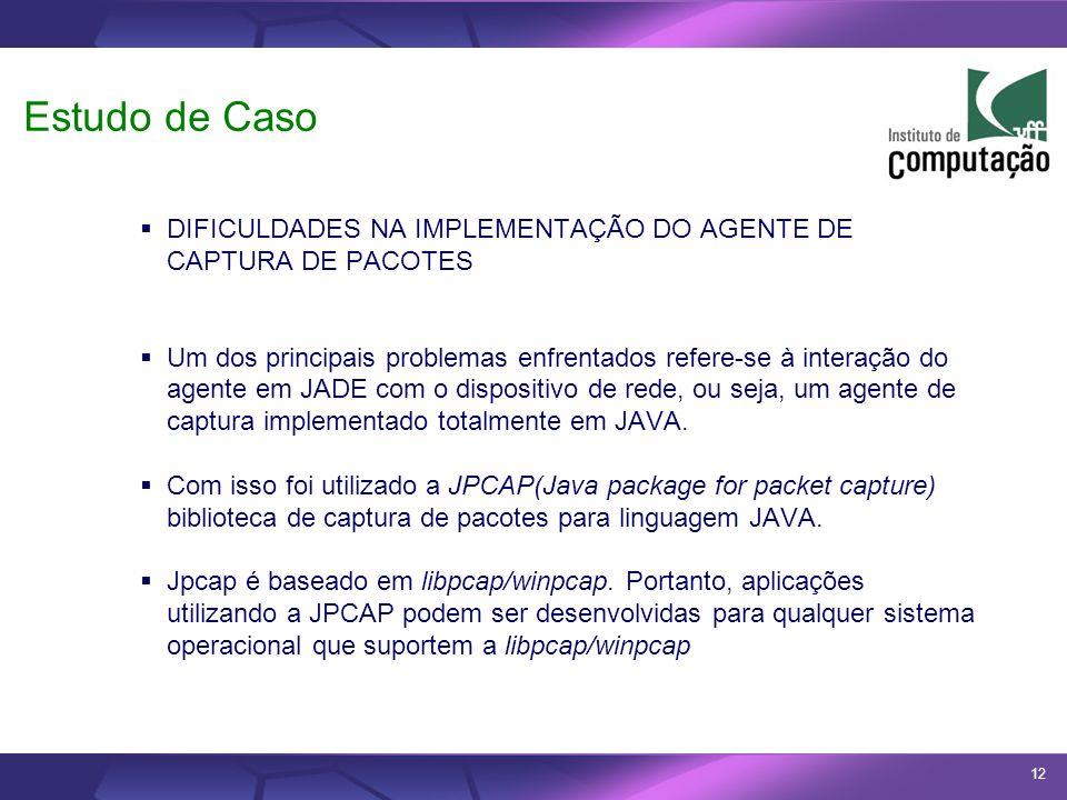 Estudo de CasoDIFICULDADES NA IMPLEMENTAÇÃO DO AGENTE DE CAPTURA DE PACOTES.