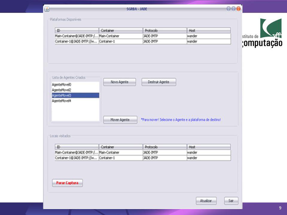 A interface gráfica do SGRBA apresenta-se ao usuário com os seguintes componentes:
