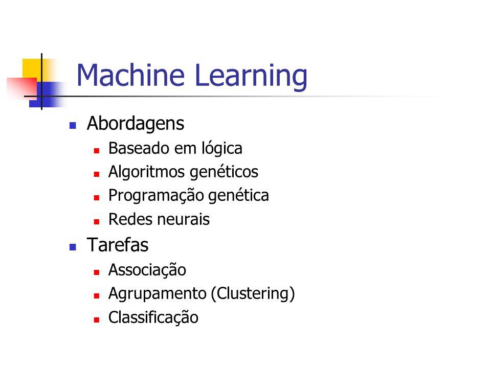 Machine Learning Abordagens Tarefas Baseado em lógica