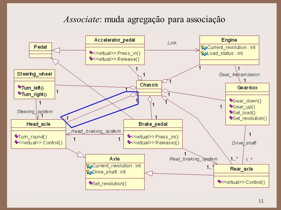 Associate: muda agregação para associação