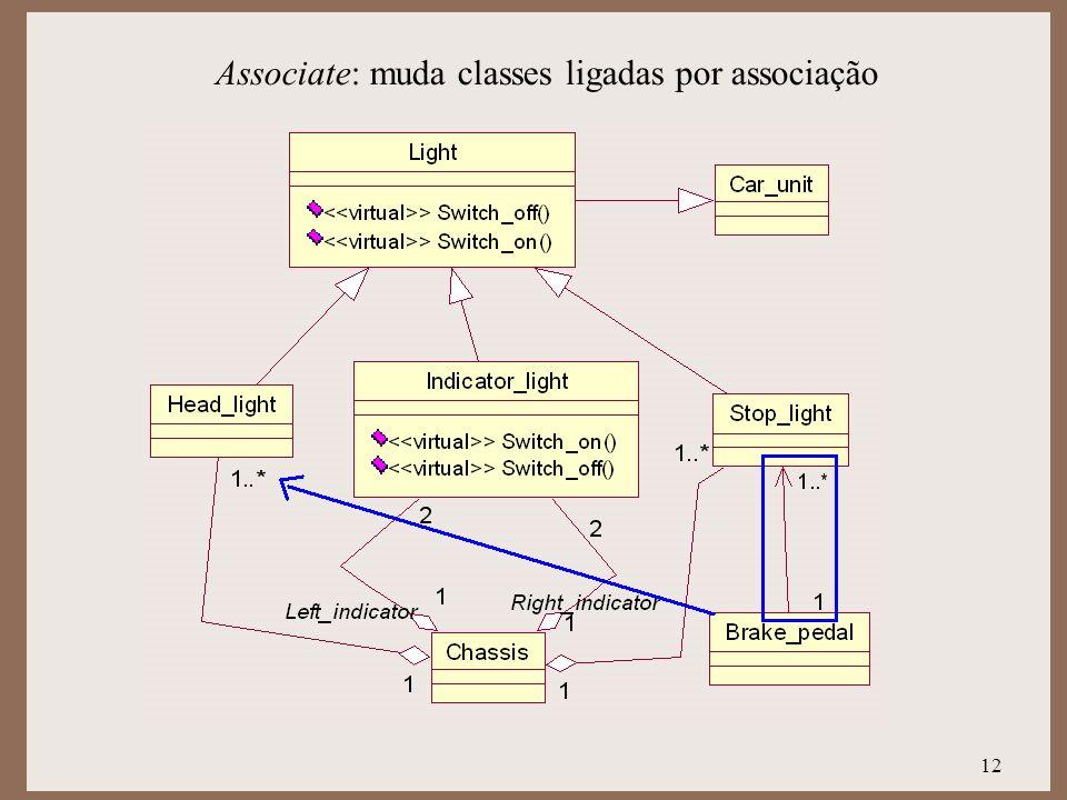 Associate: muda classes ligadas por associação