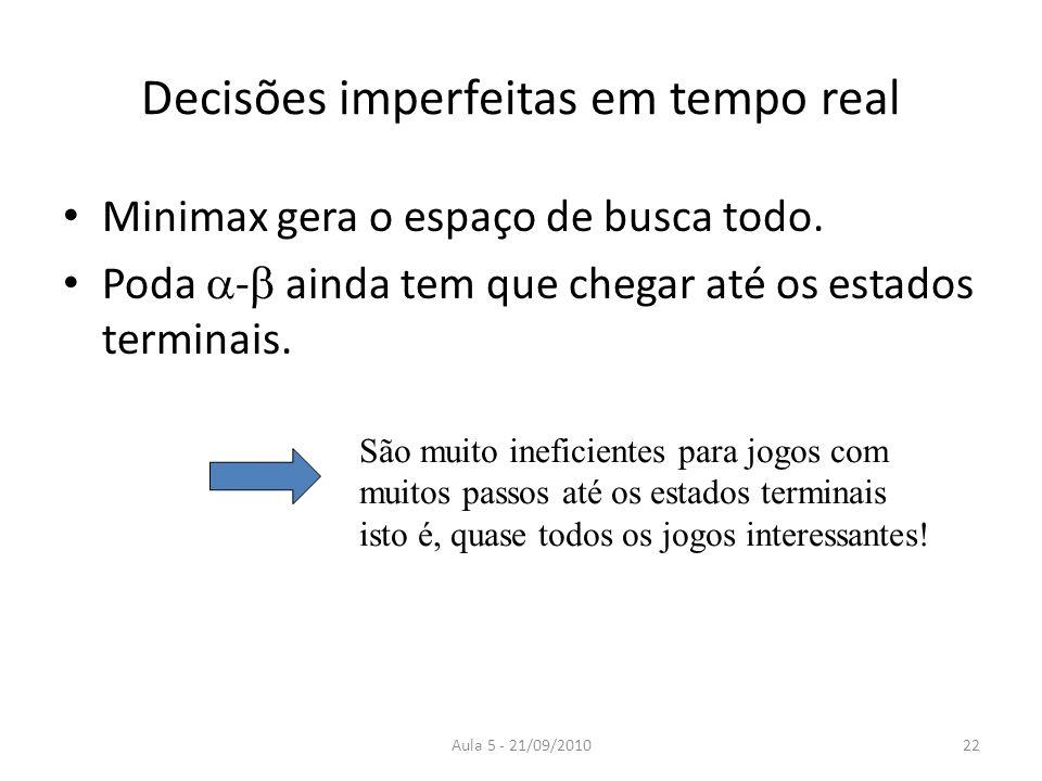 Decisões imperfeitas em tempo real