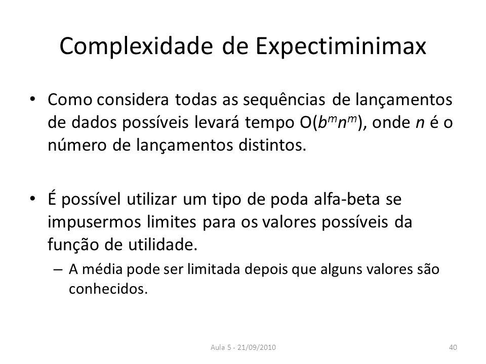 Complexidade de Expectiminimax