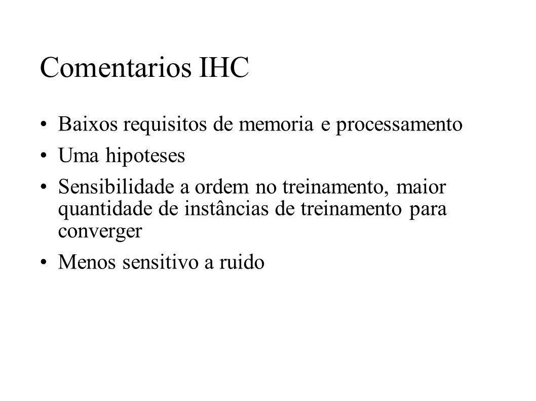 Comentarios IHC Baixos requisitos de memoria e processamento