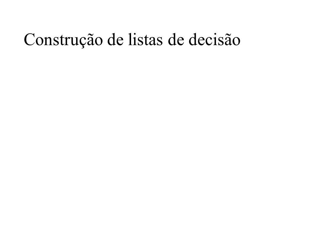 Construção de listas de decisão