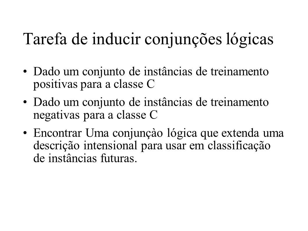 Tarefa de inducir conjunções lógicas