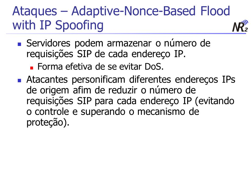 Ataques – Adaptive-Nonce-Based Flood with IP Spoofing