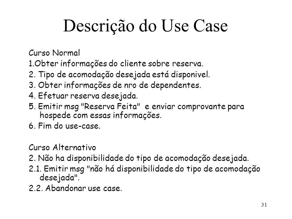 Descrição do Use Case Curso Normal