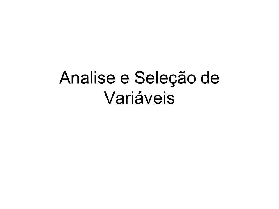 Analise e Seleção de Variáveis