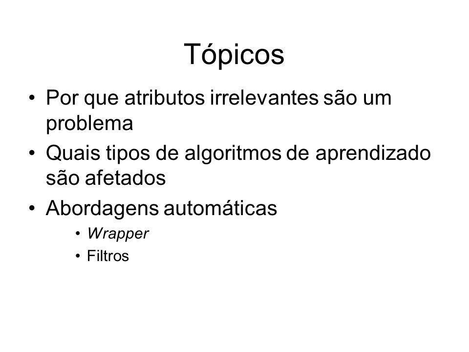 Tópicos Por que atributos irrelevantes são um problema