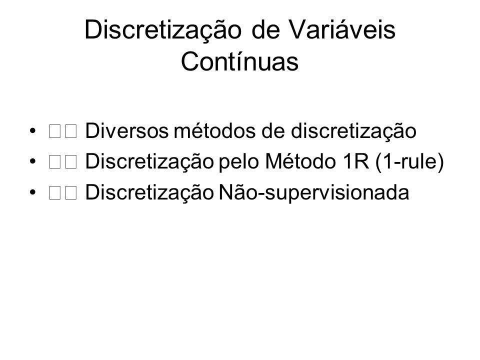 Discretização de Variáveis Contínuas