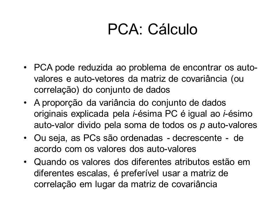 PCA: Cálculo