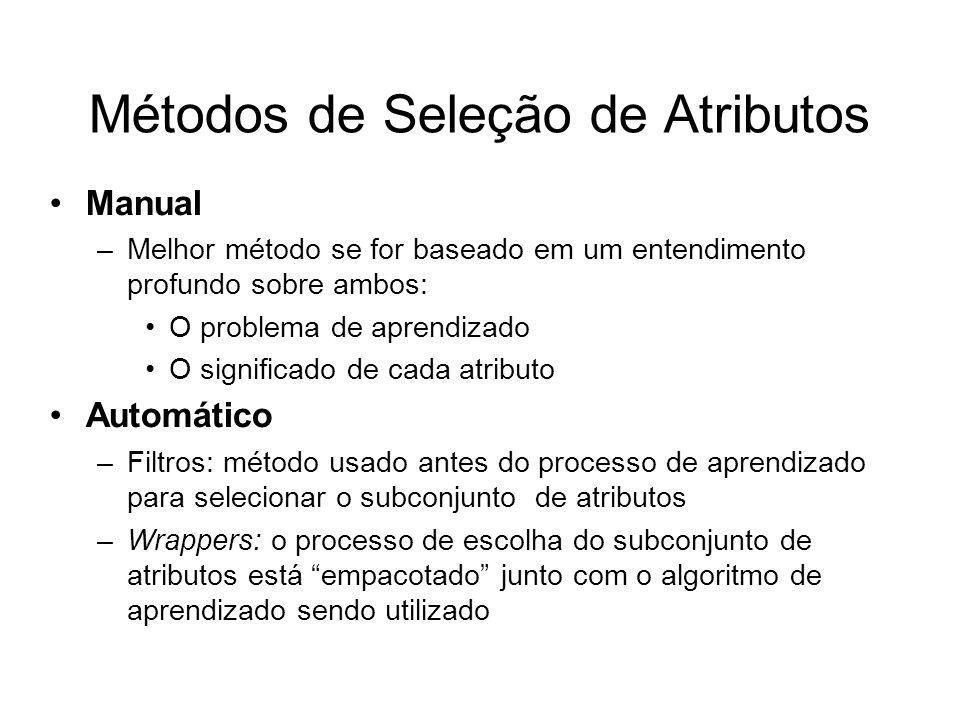Métodos de Seleção de Atributos