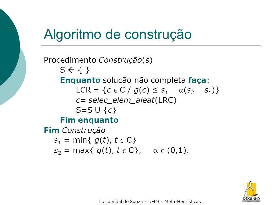Algoritmo de construção